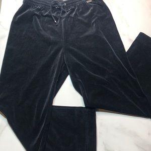 St. John Sport Velour Black Pants